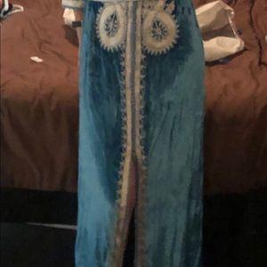 Moroccan Caftan turquoise custom hand made